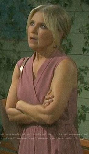 Jennifer's pink jumpsuit on Days of our Lives