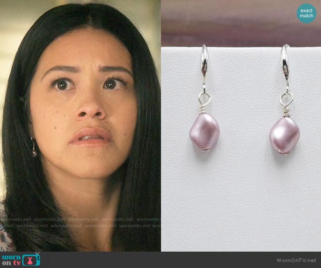 Jewelsforhope Swarovski Pearl Earrings worn by Jane Villanueva (Gina Rodriguez) on Jane the Virgin