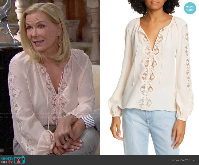 Joie Bernabas Top worn by Brooke Logan (Katherine Kelly Lang) on The Bold & the Beautiful