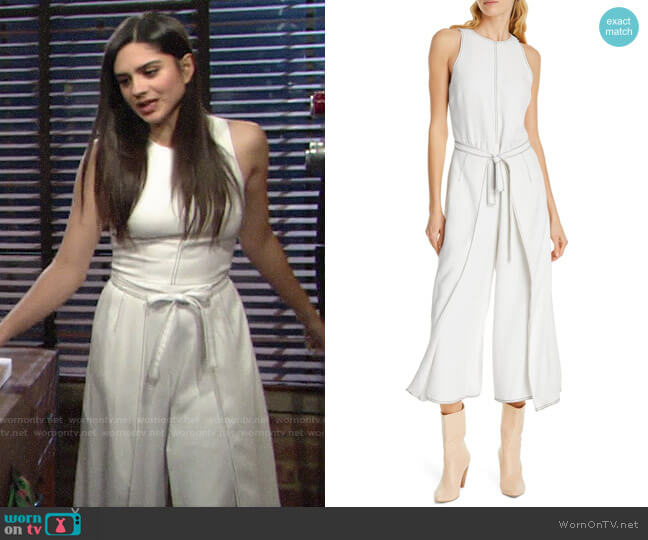 Joie Mairead Crop Jumpsuit worn by Lola Rosales (Sasha Calle) on The Young & the Restless