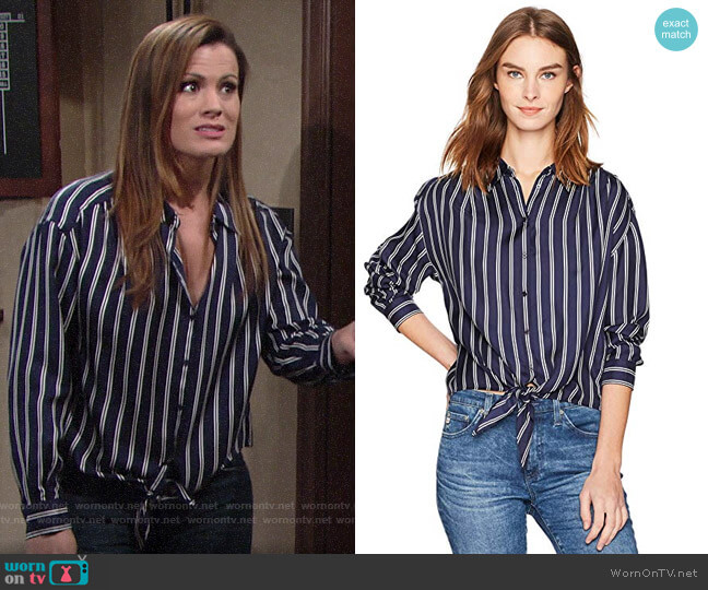 Joie Adiba Blouse worn by Chelsea Lawson (Melissa Claire Egan) on The Young & the Restless