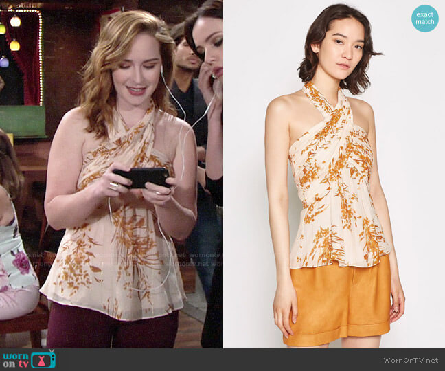 Joie Damien Top worn by Mariah Copeland (Camryn Grimes) on The Young & the Restless