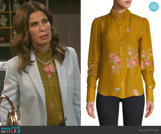 Joie Elzie Blouse worn by Hope Williams (Kristian Alfonso) on Days of our Lives