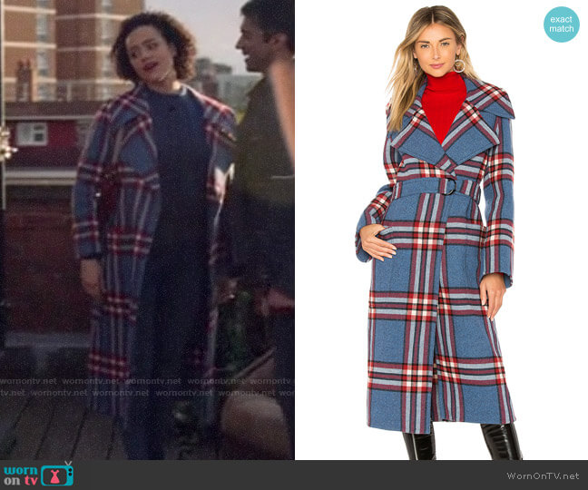 Joseph Teodor Coat worn by Maya (Nathalie Emmanuel) on Four Weddings & a Funeral