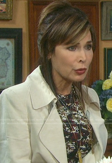 Kate's camouflage print dress on Days of our Lives