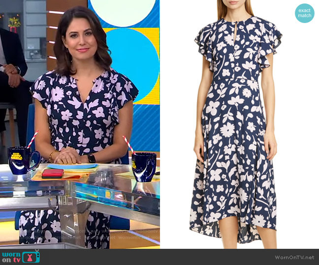Splash Midi Dress by Kate Spade worn by Cecilia Vega  on Good Morning America