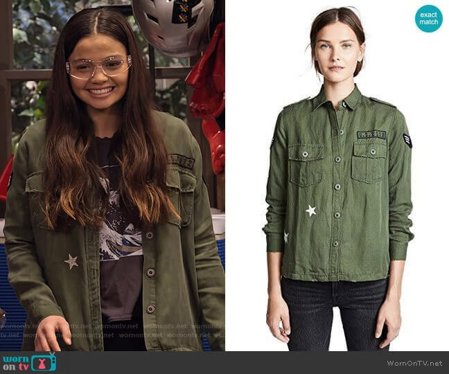 Kato Military Shirt by Rails worn by Nick (Siena Agudong) on No Good Nick