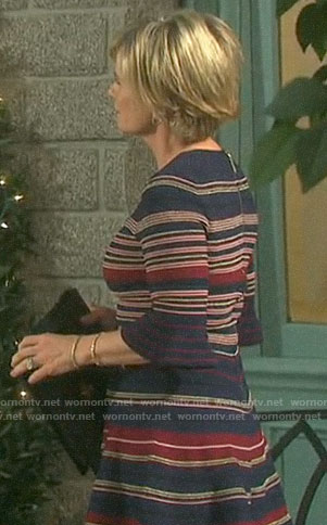 Kayla's striped dress on Days of our Lives