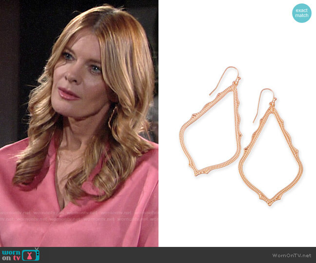 Kendra Scott Sophee Drop Earrings worn by Phyllis Summers (Michelle Stafford) on The Young & the Restless