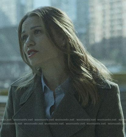 Keri's coat on Pearson