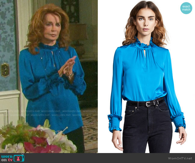 Kobi Halperin Lexi Blouse worn by Maggie Horton (Suzanne Rogers) on Days of our Lives
