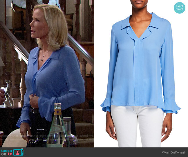 Kobi Halperin Maisie Blouse worn by Brooke Logan (Katherine Kelly Lang) on The Bold & the Beautiful
