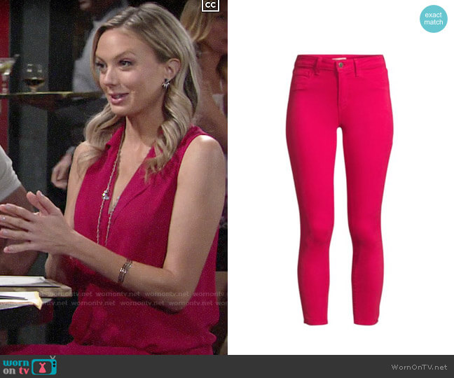 L'Agence Margot Jeans worn by Abby Newman (Melissa Ordway) on The Young & the Restless
