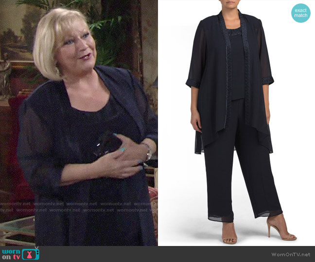Le Bos Three Piece Pant Suit worn by Traci Abbott (Beth Maitland) on The Young & the Restless