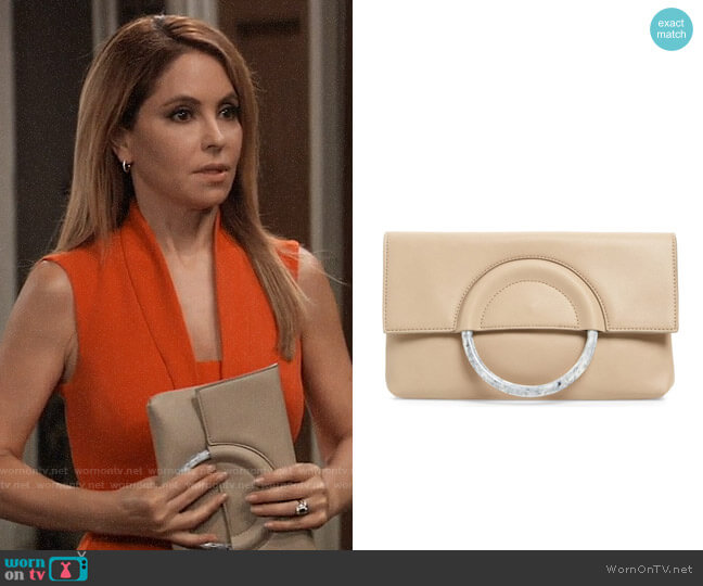 Leith Resin Handle Clutch worn by Olivia Falconeri (Lisa Lo Cicero) on General Hospital