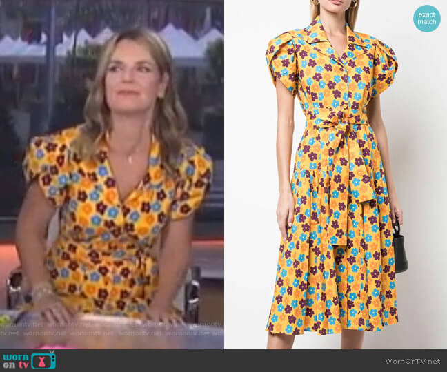 Floral Print Midi Dress by Lhd worn by Savannah Guthrie  on Today