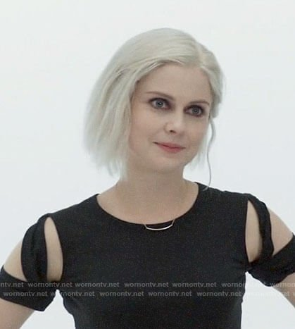Liv's black cutout sleeve tee on iZombie