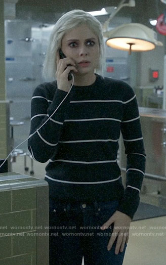 Liv's charcoal striped sweater on iZombie