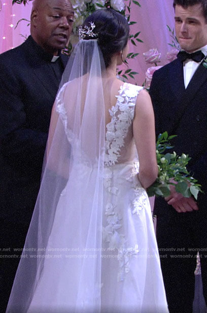 Lola's wedding dress on The Young and the Restless
