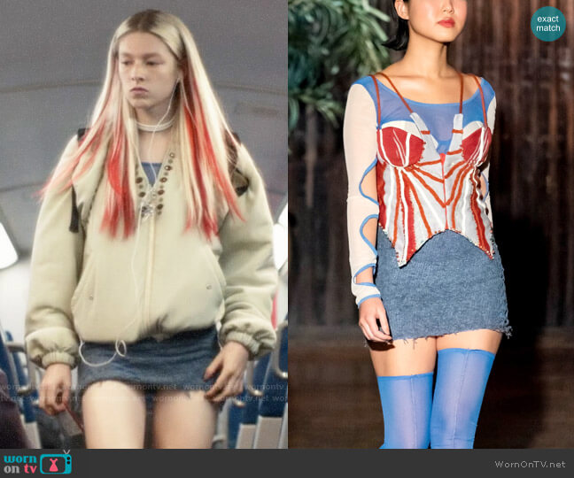 Lou Dallas Fall 2019 Collection Dress worn by Jules Vaughn (Hunter Schafer) on Euphoria
