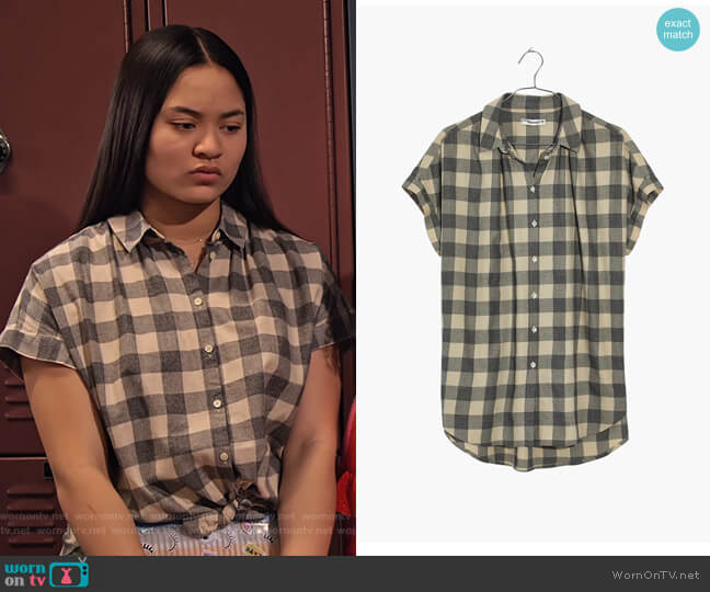 Central Shirt in Buffalo Check by Madewell worn by Xuan (Tiana Le) on No Good Nick