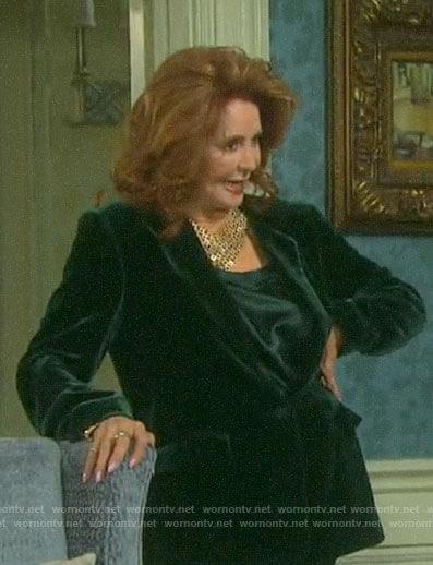 Maggie's green velvet blazer on Days of our Lives