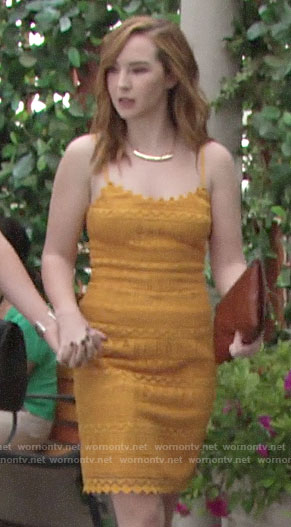 Mariah's yellow lace dress on The Young and the Restless