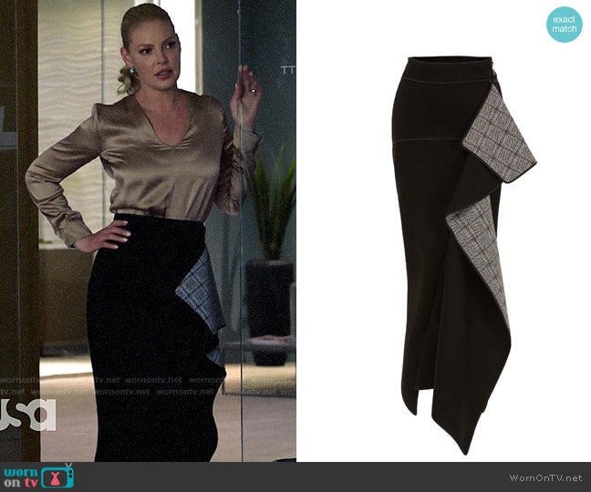 Maticevski Paragon Ruffle Skirt worn by Samantha Wheeler (Katherine Heigl) on Suits