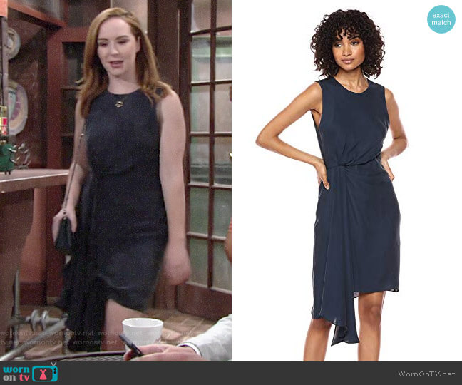 Milly Washed Stretch Silk Rachel Dress worn by Mariah Copeland (Camryn Grimes) on The Young & the Restless