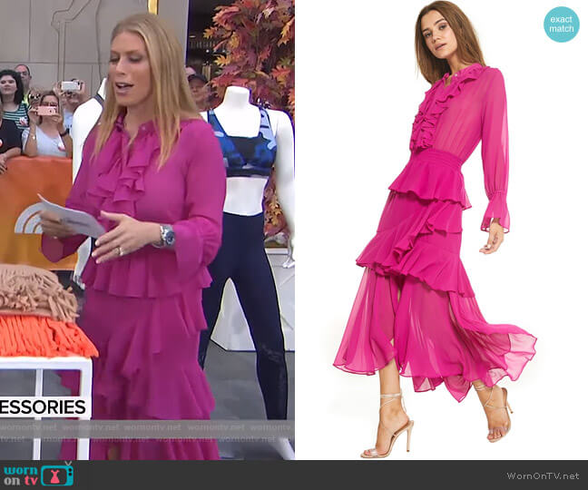 Agnese Dress by Misa worn by Jill Martin  on Today