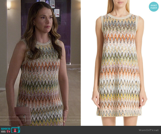Knit Shift Dress by Missoni worn by Liza Miller (Sutton Foster) on Younger