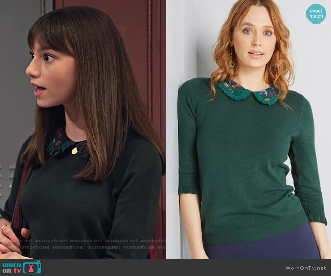 Made Meaningful Collared Sweater by Modcloth worn by Molly (Lauren Lindsey Donzis) on No Good Nick