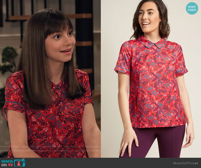 Short Sleeve Top with Trimmed Collar by Modcloth worn by Molly (Lauren Lindsey Donzis) on No Good Nick