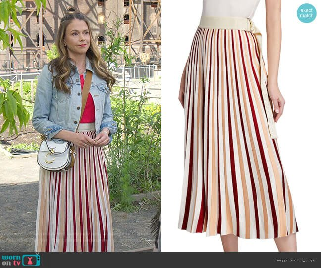 Pleated Midi Skirt by Moncler worn by Liza Miller (Sutton Foster) on Younger