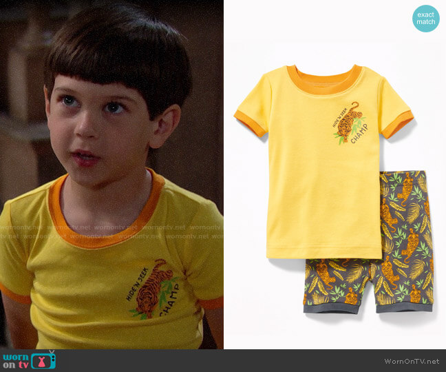 Old Navy Boys Hide n Seek Champ Tiger Sleep Set worn by Douglas on The Bold and the Beautiful