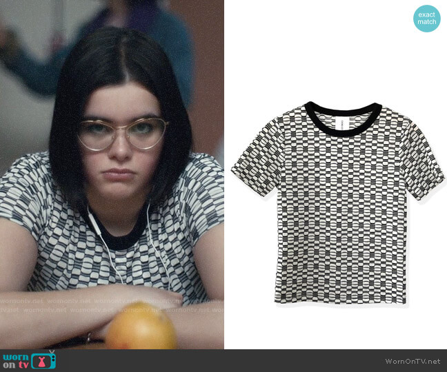 Oori Ott Coco Jacquard T-shirt worn by Kat Hernandez (Barbie Ferreira) on Euphoria