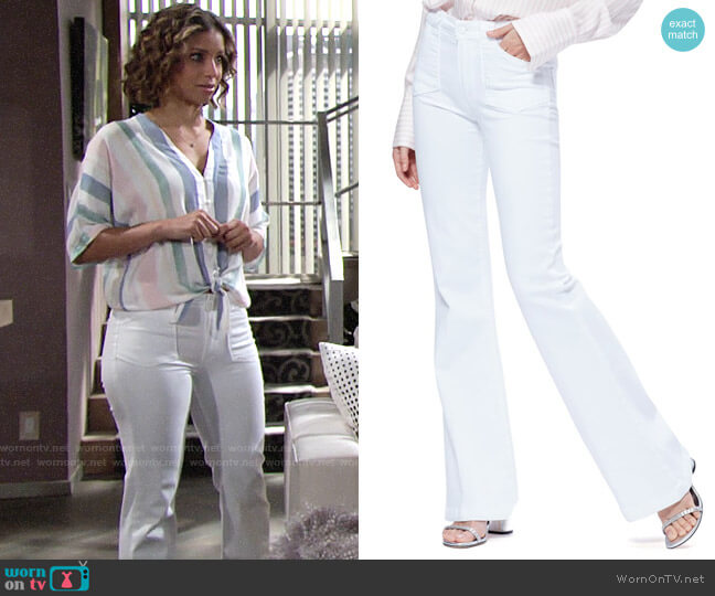 Paige Genevieve Flare Utility Pants worn by Elena Dawson (Brytni Sarpy) on The Young & the Restless