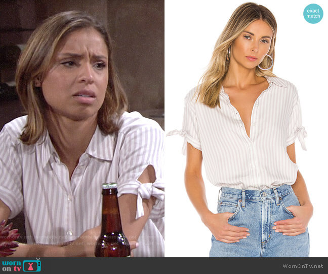 Paige Avery Shirt worn by Elena Dawson (Brytni Sarpy) on The Young & the Restless