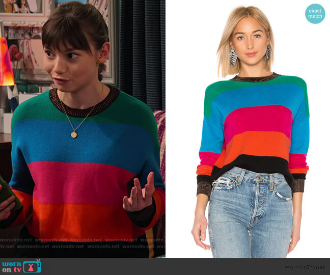 Crop Striped Sweater by Pam & Gela worn by Molly (Lauren Lindsey Donzis) on No Good Nick