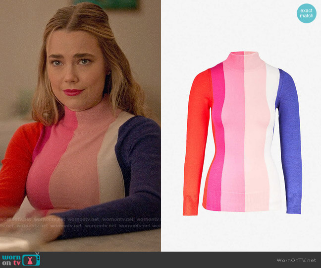 Paper London Dolly Sweater worn by Ainsley Howard (Rebecca Rittenhouse) on Four Weddings & a Funeral