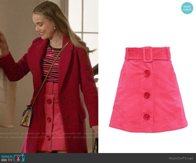 Paper London Wallace Skirt worn by Ainsley Howard (Rebecca Rittenhouse) on Four Weddings & a Funeral
