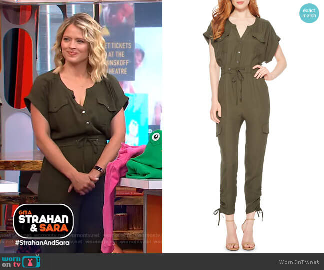 Cayman Jumpsuit by Parker worn by Sara Haines  on Good Morning America