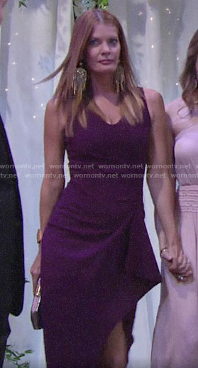 Phyllis's purple v-neck dress on The Young and the Restless