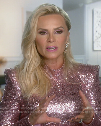 Tamra pink sequin top on The Real Housewives of Orange County