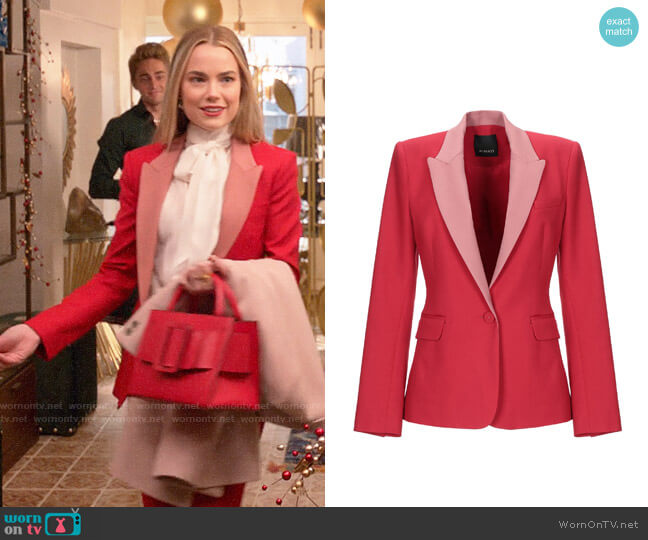 Pinko Two Tone Blazer worn by Ainsley Howard (Rebecca Rittenhouse) on Four Weddings & a Funeral
