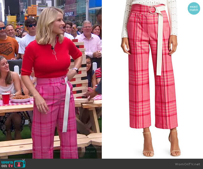 Elio Pants by Rachel Comey worn by Sara Haines  on Good Morning America