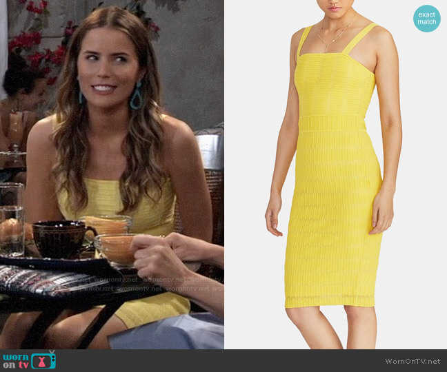 RACHEL Rachel Roy Dew Sweater Dress worn by Sasha Gilmore (Sofia Mattsson) on General Hospital