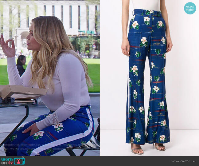 Floral Print Trousers by Racil worn by Kelsey Peters (Hilary Duff) on Younger