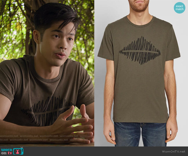 Diamond Tee by Rag & Bone (Thanks Jared) worn by Zach Dempsey (Ross Butler) on 13 Reasons Why