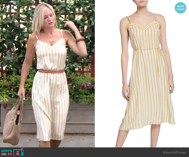 Rag & Bone Ilona Striped Dress worn by Sharon Collins (Sharon Case) on The Young & the Restless